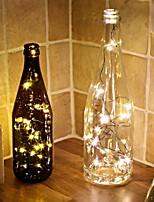 Недорогие -5 м / 16 футов теплый белый светодиодные струнные светильники на гирлянде мини-батарейки медный провод звездные сказочные огни на батарейках огни для спальни рождественские вечеринки свадьба украшение
