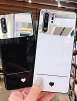 Недорогие -Кейс для Назначение Huawei Huawei Nova 4 / Huawei nova 4e / Huawei P20 Зеркальная поверхность / Ультратонкий / С узором Кейс на заднюю панель С сердцем ТПУ / ПК