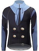 Недорогие -21Grams One Piece Sanji Муж. Длинный рукав Велокофты - Черный / синий Велоспорт Джерси Верхняя часть Устойчивость к УФ Дышащий Влагоотводящие Виды спорта 100% полиэстер Горные велосипеды Одежда