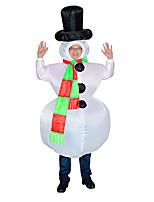 Недорогие -Снеговик Косплэй Kостюмы Надувной костюм Взрослые Муж. Хэллоуин Хэллоуин Фестиваль / праздник Вискоза / полиэфир Белый Муж. Жен. Карнавальные костюмы / трико / Комбинезон-пижама / Вентиляторы