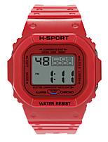 Недорогие -Мальчики электронные часы Цифровой Спортивные Стильные Кожа Черный / Красный / Зеленый 30 m Защита от влаги Фосфоресцирующий Повседневные часы Цифровой На каждый день Мода - Черный Зеленый Лиловый