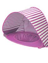 Недорогие -1 человек Палатка с экраном от солнца Семейный кемпинг-палатка На открытом воздухе Легкость С защитой от ветра Устойчивость к УФ Однослойный Автоматический Палатка 1000-1500 mm для