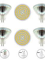 Недорогие -6шт 8 W Точечное LED освещение 800 lm GU10 MR16 E26 / E27 80 Светодиодные бусины SMD 2835 Новый дизайн Тёплый белый Белый 220-240 V 110-120 V