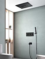 Недорогие -Смеситель для душа - Современный Окрашенные отделки Монтаж на стену Керамический клапан Bath Shower Mixer Taps