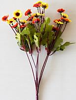Недорогие -Искусственные Цветы 2 Филиал Классический Modern Пастораль Стиль Ромашки Хризантема Вечные цветы Букеты на стол