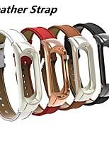 Недорогие -Ремешок для часов для Mi Band 3 Xiaomi Классическая застежка / Кожаный ремешок Стеганная ПУ кожа Повязка на запястье