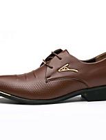 Недорогие -Муж. Официальная обувь Полиуретан Осень Туфли на шнуровке Черный / Коричневый