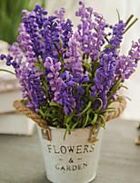 Недорогие -Искусственные Цветы 1 Филиал Классический европейский Пастораль Стиль Pастений Светло-голубой Букеты на стол