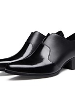 Недорогие -Муж. Официальная обувь Кожа Осень Мокасины и Свитер Черный / Офис и карьера