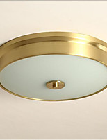 Недорогие -современные простые потолочные светильники скрытого монтажа круглого оттенка рассеянного света меди для спальни гостиной