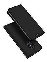 Недорогие -Кейс для Назначение Motorola Moto G7 Power Бумажник для карт / со стендом / Флип Чехол Однотонный Кожа PU / ТПУ