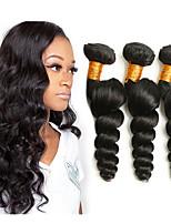 Недорогие -3 Связки Малазийские волосы Свободные волны Не подвергавшиеся окрашиванию человеческие волосы Remy Человека ткет Волосы Удлинитель Пучок волос 8-28 дюймовый Нейтральный Ткет человеческих волос