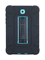 Недорогие -Кейс для Назначение SSamsung Galaxy Galaxy Tab S2 9.7 Защита от удара / со стендом Кейс на заднюю панель Однотонный ПК / силикагель