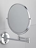 Недорогие -Ванная комната бесплатный пунш настенное зеркало зеркало раковина из нержавеющей стали двойное зеркало складной телескопическое зеркало ванная комната круглое зеркало для макияжа