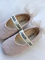 Недорогие -Девочки Мокасины Хлопок На плокой подошве Маленькие дети (4-7 лет) Белый / Зеленый / Розовый Осень
