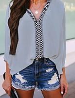 Недорогие -Жен. Рубашка Однотонный Лиловый