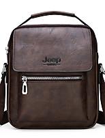 Недорогие -Муж. Молнии PU Сумка-портфель Сплошной цвет Черный / Коричневый / Темно-коричневый