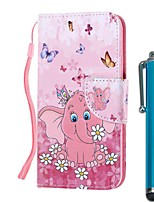 cheap -Case For Samsung Galaxy S10 / S10 Plus / S10 E Wallet / Card Holder / with Stand Butterfly Elephant PU Leather / TPU for A71 / A51 / A90 / A80 / A70 / A50 / A30S / Note 10 Plus / J6 Plus