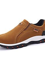 Недорогие -Муж. Комфортная обувь Полиуретан Осень На каждый день Мокасины и Свитер Нескользкий Черный / Серый / Хаки