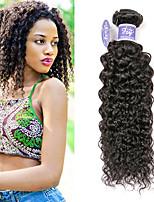 Недорогие -3 Связки Монгольские волосы Kinky Curly Не подвергавшиеся окрашиванию Необработанные натуральные волосы Человека ткет Волосы Удлинитель Пучок волос 8-28 дюймовый Нейтральный Ткет человеческих волос