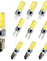Недорогие -10 шт. 5 W LED лампы типа Корн Двухштырьковые LED лампы 500 lm E14 G9 G4 T 1 Светодиодные бусины COB Диммируемая Новый дизайн Тёплый белый Белый 220-240 V