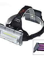 Недорогие -LED подсветка Налобные фонари Светодиодная лампа LED излучатели Автоматический Режим освещения с батарейками и USB кабелем Водонепроницаемый Портативные Защита от ветра