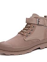 Недорогие -Муж. Армейские ботинки Искусственная кожа Весна лето Ботинки Черный / Хаки