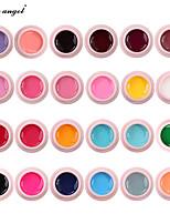 Недорогие -Лили ангел 24 цвета набор гель-краски для ногтей набор красочных гель для рисования высокое качество ногтей уф-гель лак