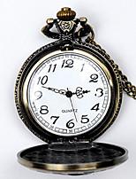 Недорогие -Муж. Карманные часы Кварцевый Старинный Бронза Повседневные часы Cool Аналого-цифровые Винтаж - Бронзовый