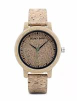 Недорогие -Для пары Нарядные часы Японский Японский кварц Стильные Натуральная кожа Хаки Нет Повседневные часы деревянный Аналоговый Мода - Коричневый Хаки Два года Срок службы батареи