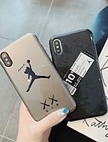 Недорогие -Кейс для Назначение Apple iPhone XS / iPhone XR / iPhone XS Max Защита от пыли / С узором / Сияние и блеск Кейс на заднюю панель Слова / выражения ТПУ