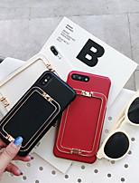 Недорогие -чехол для яблока iphone xs max / iphone 8 plus пыленепроницаемый / с подставкой и задней крышкой из сплошной искусственной кожи / ПК для iphone 7/7 plus / 8/6/6 plus / xr / x / xs
