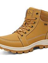 Недорогие -Муж. Fashion Boots Полиуретан Зима / Наступила зима На каждый день Ботинки Для прогулок Дышащий Ботинки Черный / Желтый / Серый