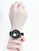 Недорогие -Жен. Кварцевые Мультяшная тематика Мода Черный Белый Синий силиконовый Кварцевый Черный Белый Розовый Повседневные часы обожаемый 1 ед. Аналоговый Один год Срок службы батареи / Нержавеющая сталь