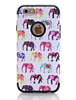 Недорогие -Кейс для Назначение Apple iPhone 7 / iPhone 6 Защита от удара Кейс на заднюю панель Имитация дерева / Животное / Цветы ТПУ / ПК