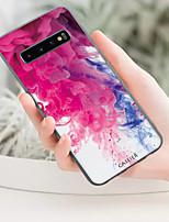 Недорогие -чехол для samsung galaxy s10 / s10 plus пыленепроницаемый / рисунок задняя крышка цвет градиента мягкий тпу / водонепроницаемый мода / высокое значение / личность творчество мягкий чехол для телефона