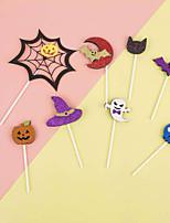Недорогие -2 шт. Хэллоуин бумажный торт вставить праздничные украшения партии украшения торта хэллоуин поставок