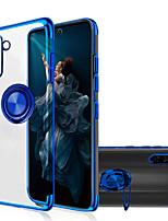 Недорогие -Кейс для Назначение SSamsung Galaxy Note 9 / Note 8 / Galaxy Note 10 Покрытие / Кольца-держатели / Прозрачный Кейс на заднюю панель Однотонный ТПУ / Металл