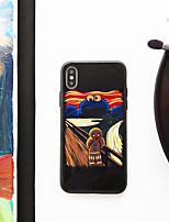Недорогие -Кейс для Назначение Apple iPhone XS / iPhone XR / iPhone XS Max Ультратонкий / С узором Кейс на заднюю панель Мультипликация ТПУ / Закаленное стекло