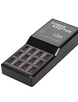 Недорогие -Multi 12 портов USB зарядное устройство настенное зарядное устройство адаптер питания для iphone Ipad Samsung Huawei зарядки планшета