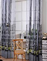 Недорогие -Дети и подростки Прозрачный 1 панель Прозрачный Мальчики   Curtains