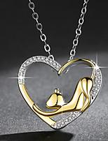 Недорогие -Жен. Ожерелья с подвесками Кошка Мода Элегантный стиль Хром Золотой 45 cm Ожерелье Бижутерия 1шт Назначение Повседневные