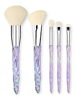 cheap -5 Pcs Makeup Brush Set Beauty Tools Crystal Makeup Brush Set Foundation Eye Shadow Makeup Brush Set Transparent Handle