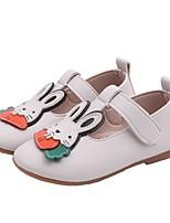 Недорогие -Девочки Удобная обувь Полиуретан На плокой подошве Маленькие дети (4-7 лет) Бежевый / Розовый Лето