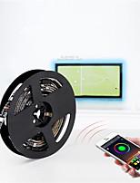 Недорогие -2м Гибкие светодиодные ленты / RGB ленты 60 светодиоды SMD5050 2 x соединительная линия USB RGB Контроль APP / USB / Для вечеринок Работает от USB 1 комплект