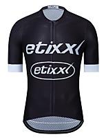 Недорогие -etixxl® Муж. С короткими рукавами Велокофты Черный Велоспорт Верхняя часть Виды спорта Полиэстер Полиэфирная тафта Горные велосипеды Шоссейные велосипеды Одежда / Эластичная