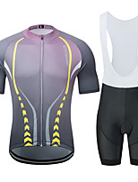 Недорогие -MUBODO Муж. С короткими рукавами Велокофты и велошорты-комбинезоны Фиолетовый Велоспорт Наборы одежды Дышащий Влагоотводящие Быстровысыхающий Анатомический дизайн Со светоотражающими полосками