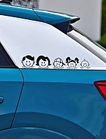Недорогие -5x25 см счастливая семья шаблон арт-дизайн виниловые наклейки стиль автомобиля наклейка автомобильные аксессуары