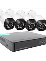 Недорогие -HD 1280 * 720 4 дорожная водонепроницаемая камера монитор набор оптом ночного видения видеонаблюдения Ахд DVR