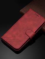Недорогие -Кейс для Назначение SSamsung Galaxy S9 / S9 Plus / S8 Plus Кошелек / Бумажник для карт / со стендом Чехол Однотонный Кожа PU